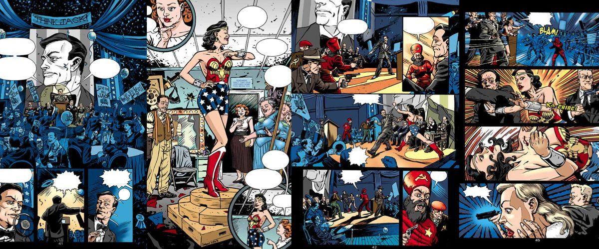 Wonder Woman vs The Red Menace with Allan Neuwirth & Glen Hanson.